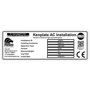Installation label